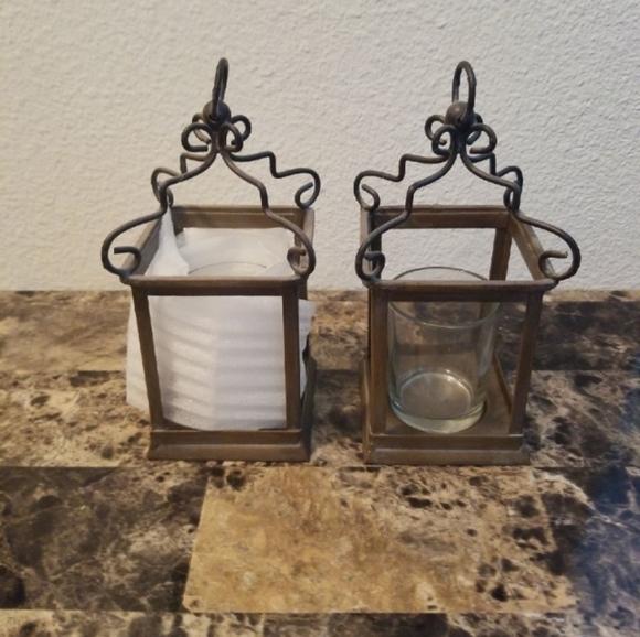 Lantern Set of 2 Candle Holder
